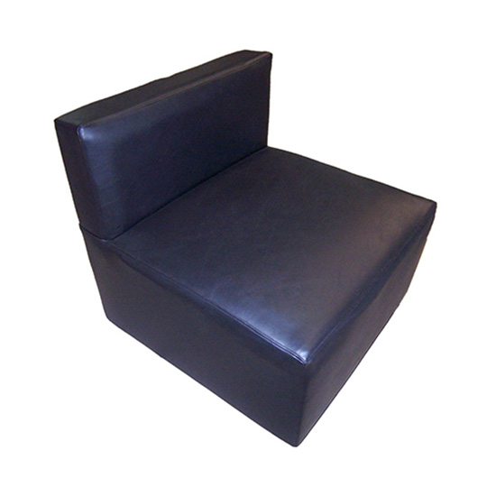 Black Function Armless Chair