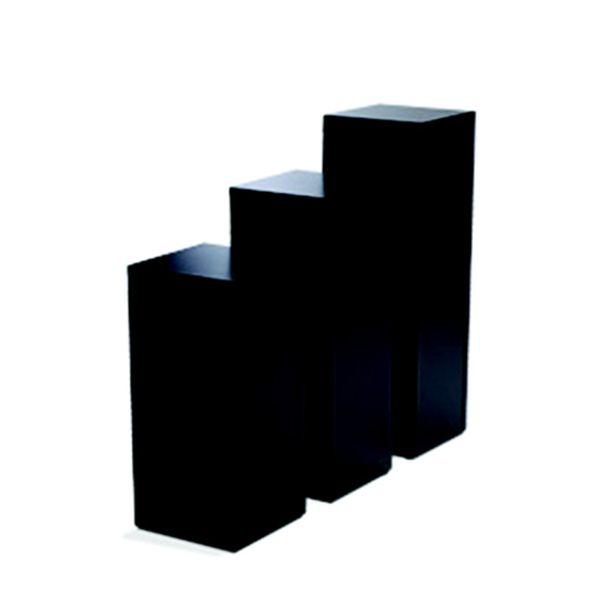 Display Pedestal 30″ Black 14″ Sq.